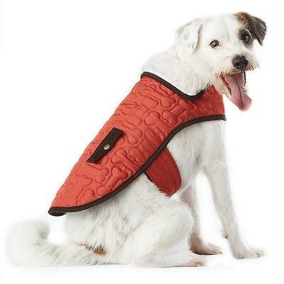 Wag-a-Tude Bone Quilt Pocket Jacket for Dogs Size S Small Dog Coat NEW