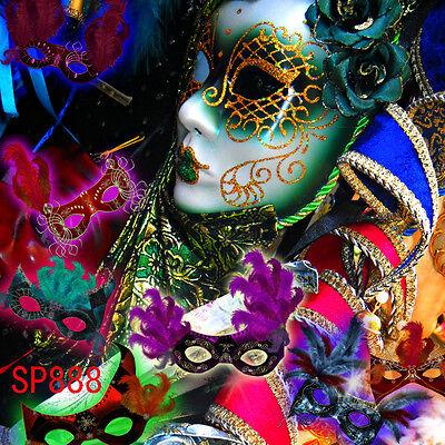 masquerade party  10x10 FT CP  PHOTO SCENIC BACKGROUND BACKDROP Sp888 - Masquerade Backdrop