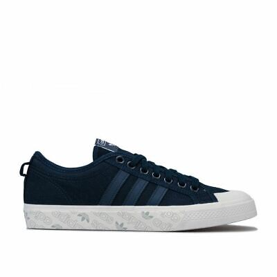 Men's adidas Originals Nizza Canvas upper Lace Up Trainers in Blue