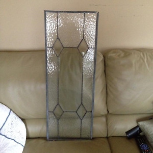 Pretty Leaded Glass Windows x 8 (New Price)
