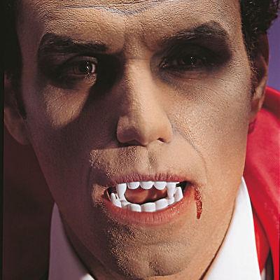 Vampirzähne komplettes Gebiss weiß, Vampirkostüm Vampirgebiss Halloween - Komplette Vampir Kostüm