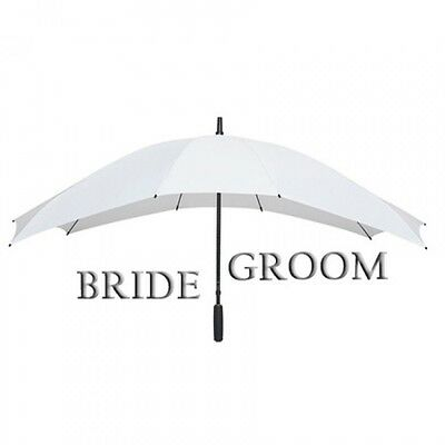 Duo 2 Person White Wedding Umbrella,Wide Canopy Bride Groom.Large White Umbrella