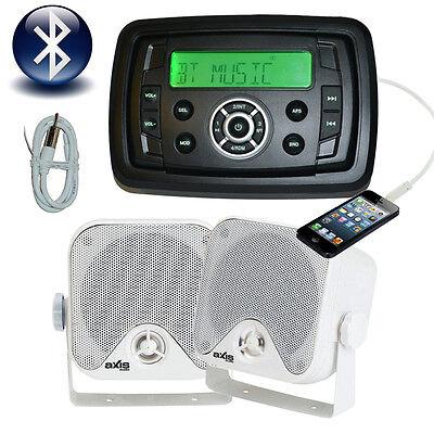 New Marine Boat MP3/AM/FM/USB/Ipod Player + Speakers