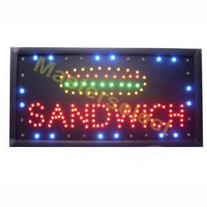 enseigne panneau tableau pub lumineux a leds pour commer ant sandwich pas cher. Black Bedroom Furniture Sets. Home Design Ideas
