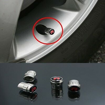 Wheel Tire Stainless Valve Cap R Emblem For Chevrolet Spark Matiz 2011 2016