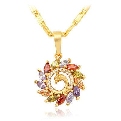 Phoenix pendant goldebay 1 u7 phoenix bird pendant necklace 18k gold plated zirconia fashion women jewelry mozeypictures Image collections