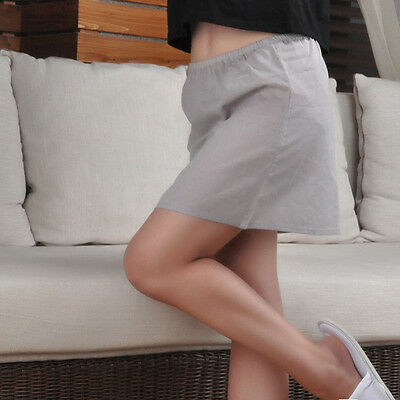 (Women Cotton Half Slip Mini Underskirt Under Dress A Line Petticoat Safety Skirt)