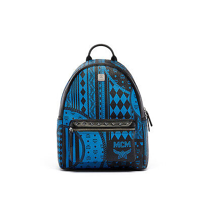 MCM Stark Baroque Print BackPack MMK6AVE58LC MUNICH BLUE Color
