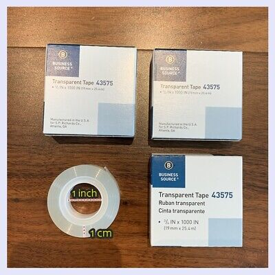 Lot 3 Clear Tape 34 Standard Transparent Package 1 Core Mail Ship Fast Free Us