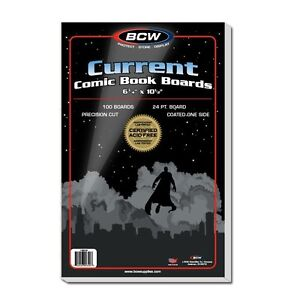 Pack-100-BCW-Archival-Current-Modern-Comic-Book-Acid-Free-Backing-Boards-backer