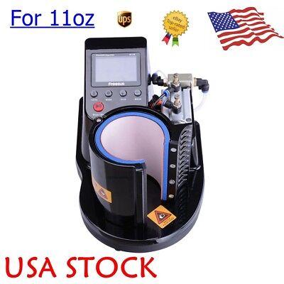 110v Auto Pneumatic 11oz Mug Sublimation Heat Press Machine For Coffee Cup Print