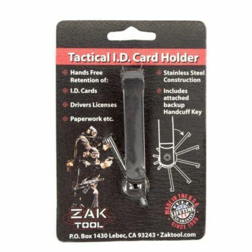 Zak Tool ZT98-BLK Black Tactical Hidden Handcuff Key ID Card Holder