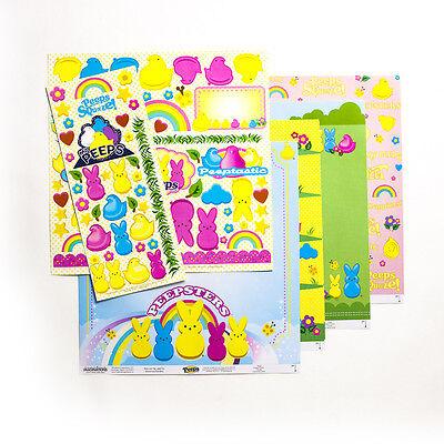 Easter Paper (Scrapbook Peeps Marshmallow Easter Paper Sticker Chipboard Die Cut Chick)