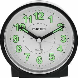 Casio #TQ228-1DF Round Travel Table Top Alarm Clock