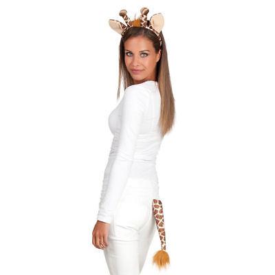 Giraffen Kostüm Set 2tlg Haarreif und Schwanz Giraffenkostüm Verkleidung