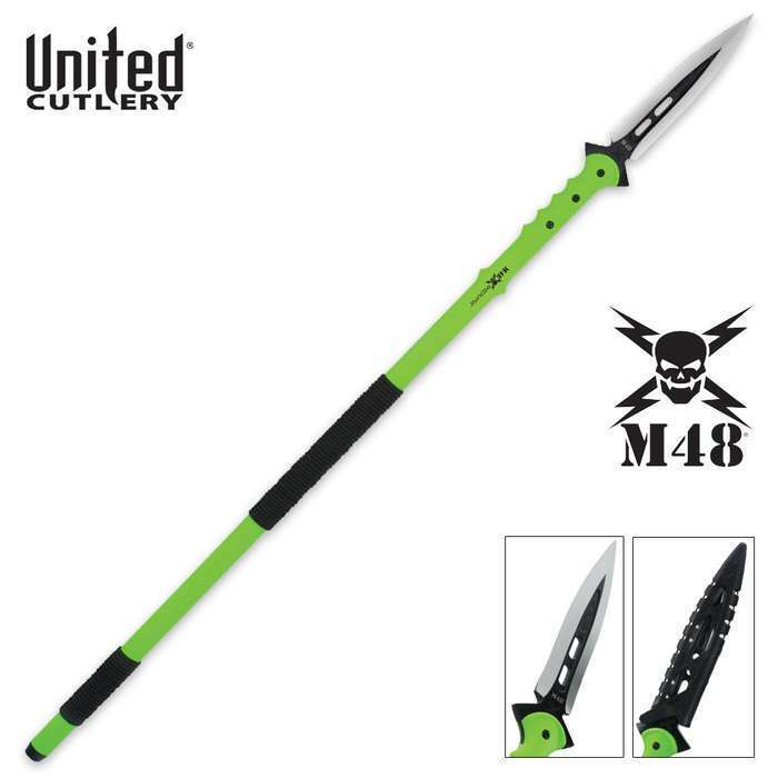 """44"""" M48 Zombie Apocalypse Hunting Tactical Spear Knife Throwing Battle w/ Sheath"""