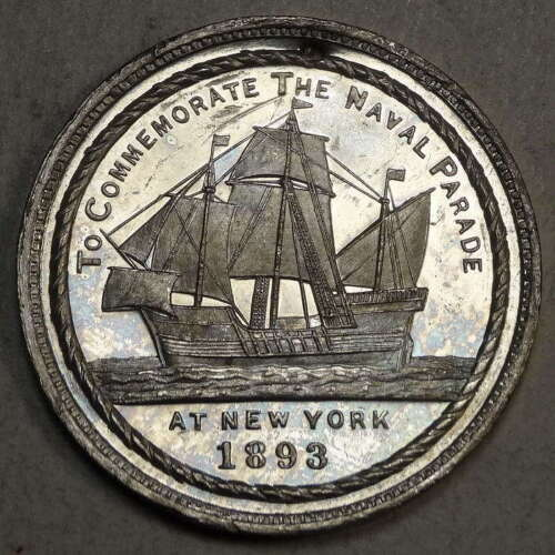 Eglit 211, 1893 New York Naval Parade, Columbian Exposition Related, Prooflike