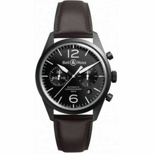 Bell & Ross Black Dial Chronograph Leather Automatic Men's Watch BRV126-BL-CA/SC - watch picture 1
