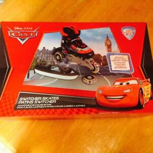 "NEW ""OPENED BOX"" Disney Cars 2-in-1 Switcher Skate(Size:J8-J11)"