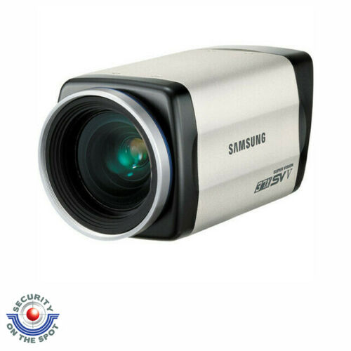 "SAMSUNG SCZ-3370 ANALOG ZOOM BOX CAMERA, 1/4"" CCD, 600 TV LINES, 37X, 3.5-129.5M"