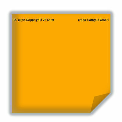 25 Blatt 8 x 8 cm zum Vergolden Dukaten Antik Gold Blattgold 23,6 Karat lose