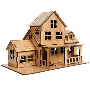 House Bamboo Wood Model Kit Ebay