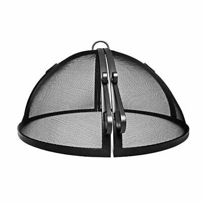 """42"""" Welded High Grade Carbon Steel Hinged Round Fire Pit Saf"""