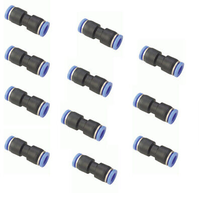 10pc 38 Od Tube Pneumatic Straight Union Connector Push To Connect Air Fitting