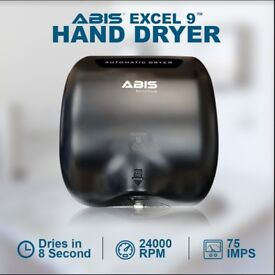 ABIS Excel-9 Hand Dryer (Black), Eco Friendly Hand Dryer, Bars, Schools, Restaurants, Clubs