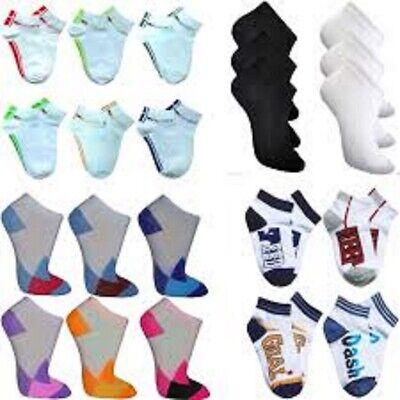 Söckchen Mädchen (12 Paar Kinder Socken Paket Söckchen Füßlinge Sport Sneaker kurz Mädchen Jungen)
