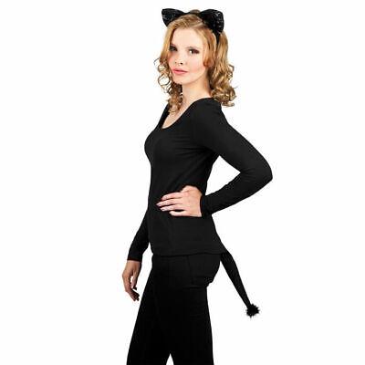 Kostüm-Set Schwarze Katze mit Samt     ()
