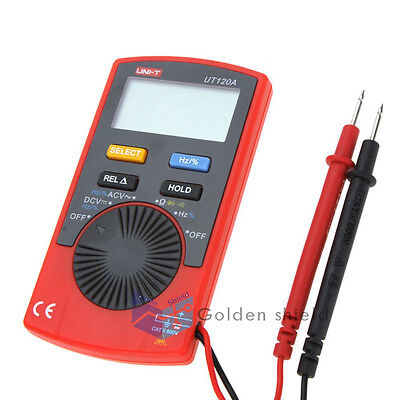 Uni-t Ut120a Pocket Size Type Auto-range Dmm Digital Multimeter Dc Ac Voltage