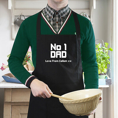PERSONALISED APRON for DAD Fathers Day Gift Christmas Birthday Cook Present Idea ()