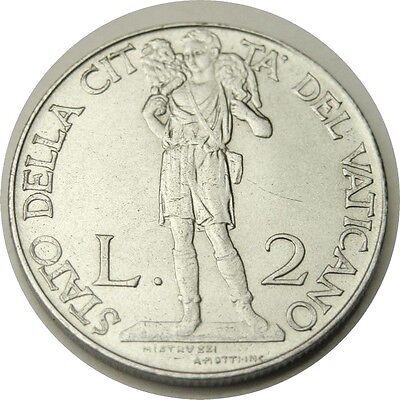 elf Vatican City 2 Lire 1941 Pius XII Shepherd Sheep World War II