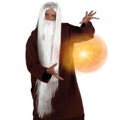 uberer-Magier-Hexer weiß     (Hexe Perücken)