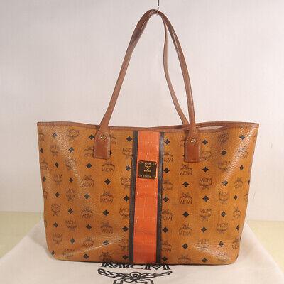 AUTHENTIC MCM Women Visetos Shopper Bag  + Pouch + Dust Bag