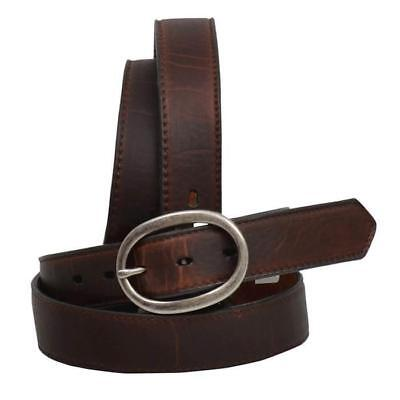 Angel Ranch Women's Dark Brown Basic Leather Belt A6152 Basic Leather Belt