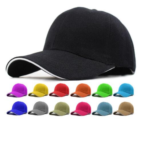 Details about Hot Baseball Hat Plain Cap Blank Curved Visor Hats Men Women  Metal Solid Color 41c6d9f15c1a