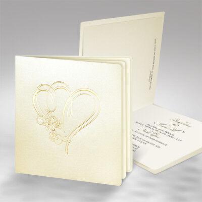 Einladungskarten Hochzeit FE46R mit Umschlag! Hochzeitseinladungskarte ()