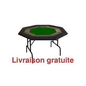 Table de poker 8 joueur / Octagonal Poker Table  8 Players