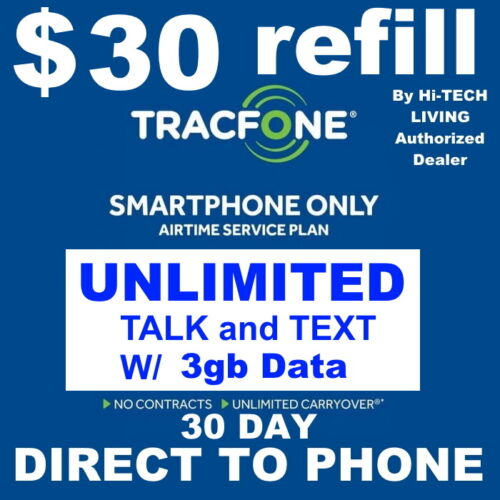 $30 TRACFONE FASTEST PREPAID REFILL DIRECT to SMARTPHONE 🔥GET IT TODAY!🔥