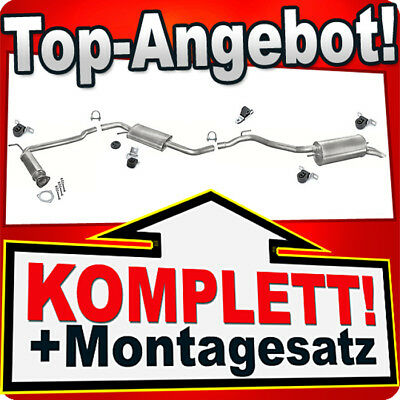 Auspuff Komplett mittel end VW TRANSPORTER IV T4 1.9TD 2.4D NEU Montageware