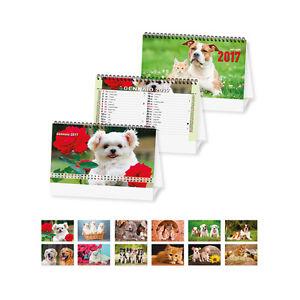 Calendario da tavolo 2017 cani gatti ufficio casa pratico per scrivere ebay - Calendario 2017 da tavolo ...