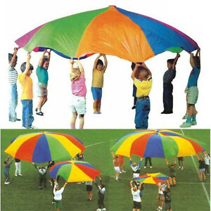 New-6-10-12-13-16-20-FT-Kids-Play-Rainbow-Parachute-Outdoor-Game-Exerclse-Sport
