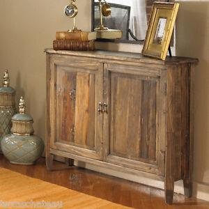 Reclaimed wood cabinet ebay for Narrow foyer cabinet