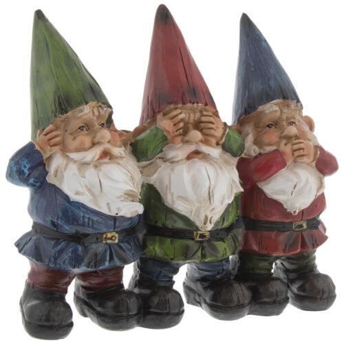 See Hear Speak No Evil Gnomes