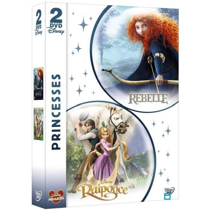 Coffret DVD REBELLE + RAIPONCE