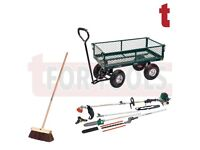 DRAPER 58552 GARDEN CART 5 IN 1 PETROL GARDEN MULTI TOOL & YARD BRUSH / BROOM