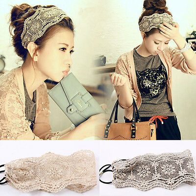 1Women Lace Headband Retro Hair Band Wide Headwraps Hair Accessories Cheap - Cheap Hair Accessories
