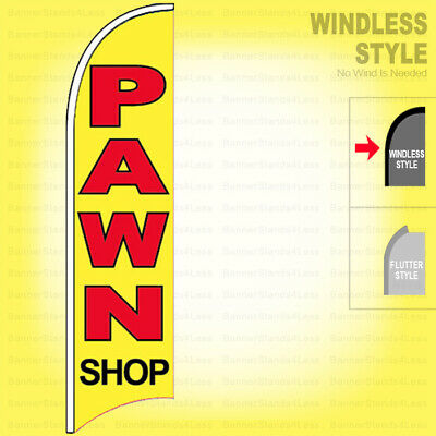 Pawn Shop - Windless Swooper Flag 2.5x11.5 Ft Feather Banner Sign Yb